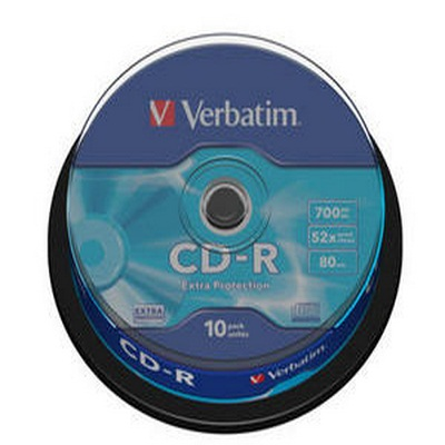 Verbatim CD-R 52x 700MB 10 Τεμάχια Cake Box