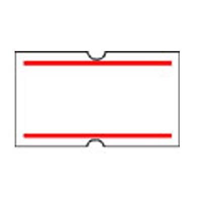 DRAGON Ετικέτες 21x12mm Λευκές με Κόκκινη Ρίγα